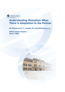 Understanding Mutualism When There is Adaptation to the Partner