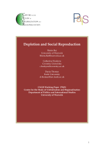 Depletion and Social Reproduction