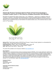 Sophiris Bio Presents Topsalysin Data from Phase 2a Proof