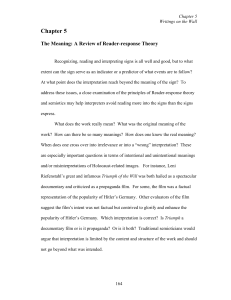Reader Response Theory and Holocaust Art