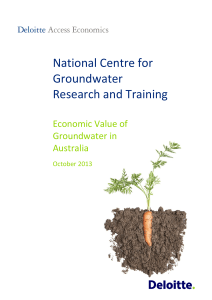 Deloitte Access Economics - National Centre for Groundwater