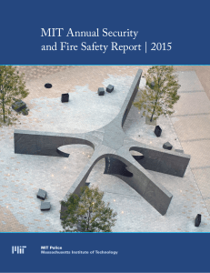 MIT Annual Security and Fire Safety Report | 2015