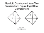 Manifold Constructed from Two Tetrahedron: Figure Eight