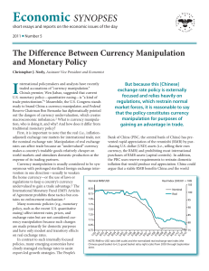The Difference Between Currency Manipulation and Monetary Policy