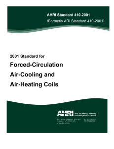 Forced-Circulation Air-Cooling and Air-Heating Coils
