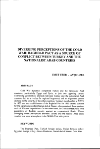 diverging perceptions of the cold war: baghdad pact as a source of
