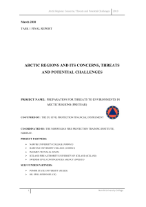 Arctic Regions: Concerns, Threats and Potential Challenges