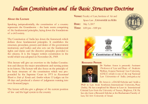 Indian Constitution and the Basic Structure Doctrine