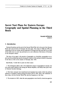 Secret Nazi Plans for Eastern Europe: Geography and