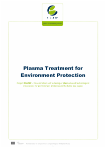 Plasma Treatment for Environment Protection
