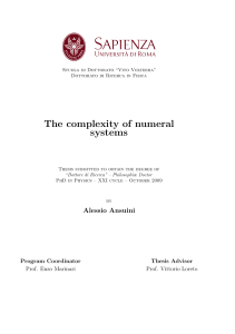 The complexity of numeral systems