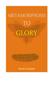 METAMORPHOSIS TO GLORY