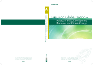 Essays on Globalization –
