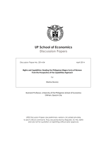 UP School of Economics Discussion Papers