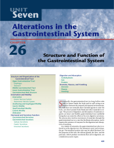 Alterations in the Gastrointestinal System