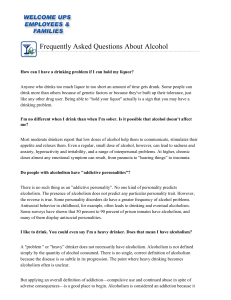 Frequently Asked Questions about Alcohol