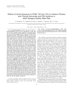 Effects of Acute Exposure to PCBs 126 and 153 on Anterior Pituitary