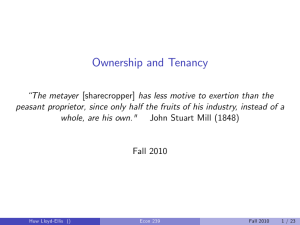 Ownership and Tenancy