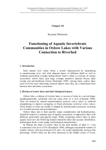Functioning of Aquatic Invertebrate Communities in Oxbow Lakes