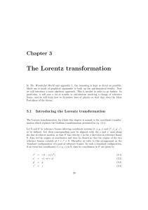 The Lorentz transformation