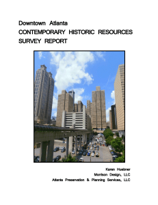Downtown Atlanta: Contemporary Historic Resources Survey Report