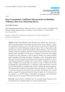 Heat Transmission Coefficient Measurements in Buildings Utilizing a