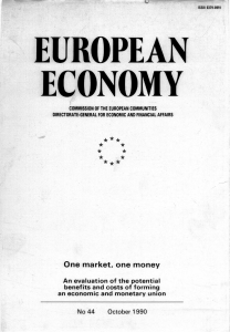 CD1. European Economy. Basic editions. 44/1990. One market, one