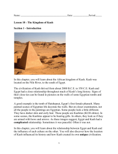 Lesson 10 - The Kingdom of Kush Section 1