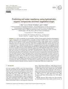 Predicting soil water repellency using hydrophobic organic