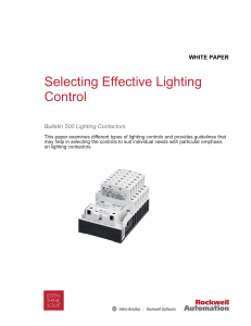Selecting Effective Lighting Control White Paper