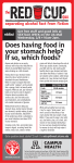 Does Having Food In Your Stomach Help? If So, Which Foods?