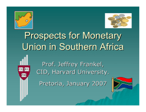 Prospects for Monetary Union in Southern Africa