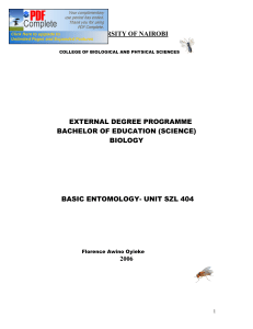 biology basic entomology- unit szl 404 2006