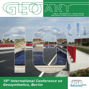 10th International Conference on Geosynthetics, Berlin