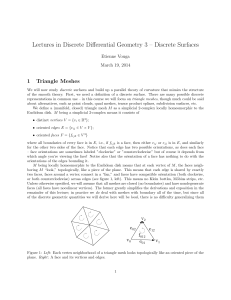 Lectures in Discrete Differential Geometry 3