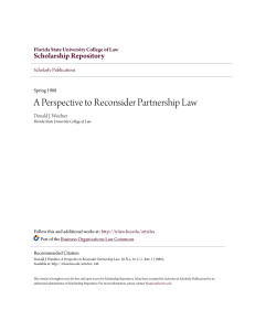 A Perspective to Reconsider Partnership Law