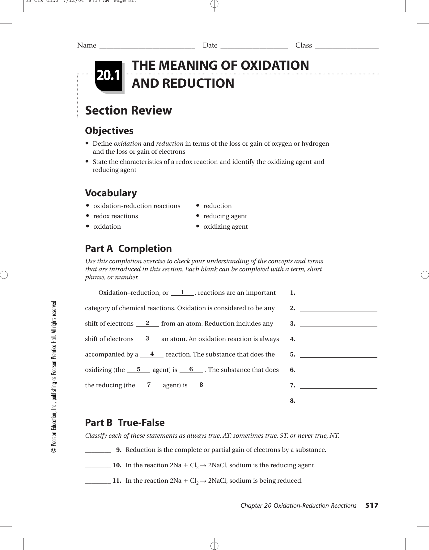 worksheet Electrochemistry Worksheet part a completion