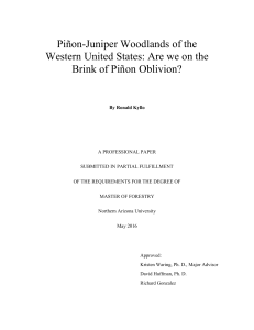 Piñon-Juniper Woodlands of the Western United States: Are we on