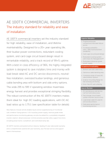 AE 100TX COMMERCIAL INVERTERS