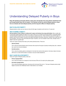 Understanding Delayed Puberty in Boys
