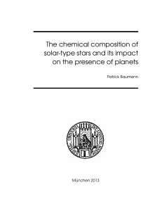 The chemical composition of solar-type stars and its impact on the
