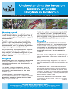 Understanding the Invasion Ecology of Exotic Crayfish in California