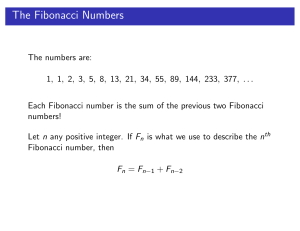 The Fibonacci Numbers