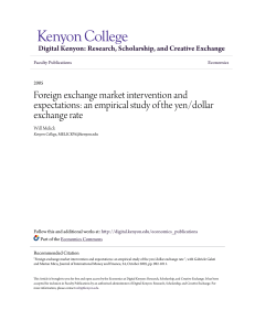 an empirical study of the yen/dollar exchange rate