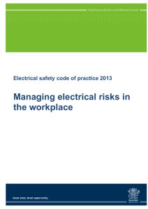 Electrical safety code of practice 2013 - Managing