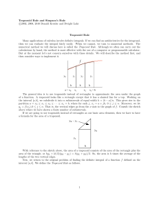 Trapezoid and Simpson`s rules