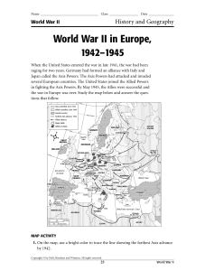 World War II in Europe, 1942–1945
