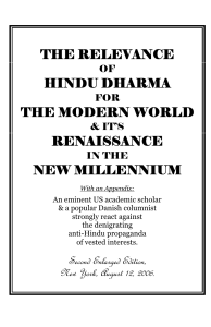 Relevance of Hindu Dharma