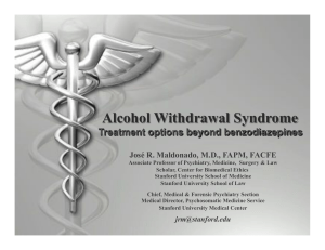 Alcohol Withdrawal Syndrome - American College of Medical