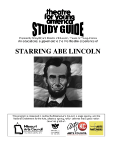 STARRING ABE LINCOLN - Theatre For Young America
